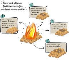 allumage feu de cheminee facile rapide