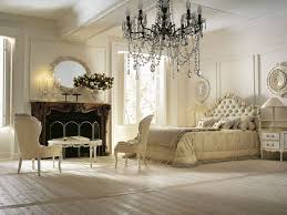 Including Gold Glass Great Picture Of Classy Bedroom Decoration Using Black Crystal Chandelier Along With Curved Tufted