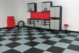 Checkerboard Vinyl Flooring For Trailers by Garage Flooring Products From Race Deck Blt Garage Floor Covers