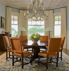 Dining Room Curtains Images Dark Brown Wood Table Tall Glass Candle Stand Round Green Hanging Wreath Wicker Chairs