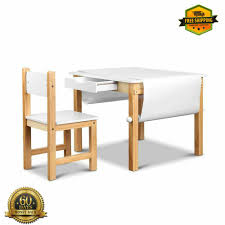 Details About Kids Drawing Table Set Wooden Activity Drawer Desk Toddler  Play Table And Chair