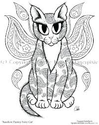Kitten Coloring Pages Kittens Color Also Of