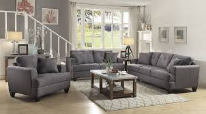 Levon Charcoal Sofa And Loveseat by Charcoal Sofa Set Sofas
