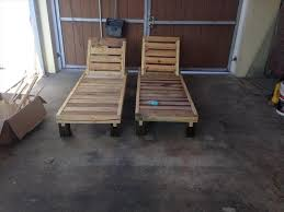 Pallet Poolside Chaise Lounge Chairs