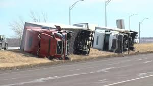 High Winds Topple Trucks In Colorado - NBC News