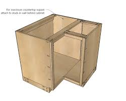 best of kitchen cabinet plans with ana white 36 corner base easy