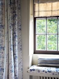 cabbages roses constance blue fabric curtains apartment
