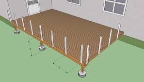 Distance Between Floor Joists On A Deck by Deck Post Railing Spacing Deck Design And Ideas