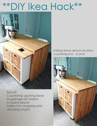 ikea hack diy kitchen island tutorial kücheninsel ikea