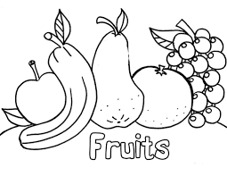 Coloring Pages For Kids Free Printable Fruit Of Animals