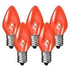 25 bulbs c7 transparent dipped 5 watt