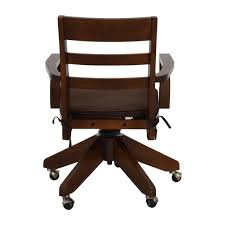 Pottery Barn Desks Used by 55 Off Eames Style Black Adjustable Office Chair Chairs Throughout