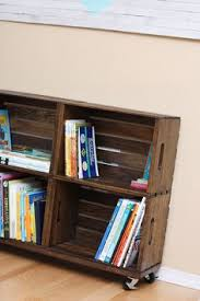Wood Crate Shelf Diy by Diy Wooden Crate Bookshelves Made With The New Unfinished Crates