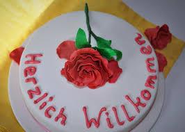 willkommens torte