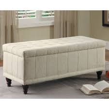 Bedroom Inspiring Bedroom Furniture White Ottoman Storage Bench