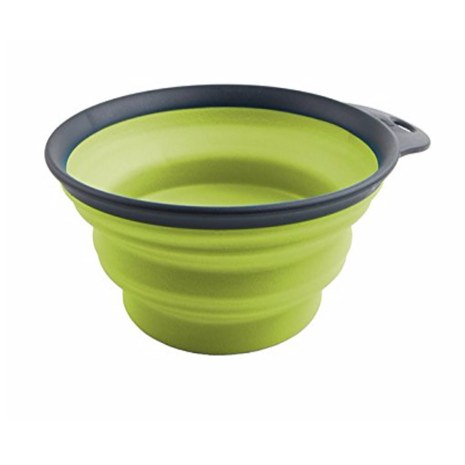 Dexas Popware For Pets Collapsible Travel Cup - Large, Gray, Green