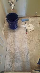 Laying Tile Over Linoleum Concrete by How To Finish Removing Linoleum Adhesive For Tile On Concrete