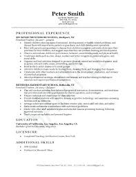 Early Childhood Resume Skills For Education Sample
