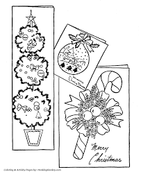 Christmas Card Decorations Coloring Page