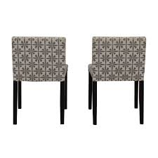 90% OFF - Macy's Macy's Patterned Fabric Dining Chairs / Chairs