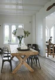 A Rustic Table Paired With Classic Metal Tub Chairs Is Always Winner