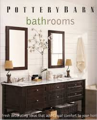 Pottery Barn Bathrooms: Fresh Decorating Ideas That Add Casual ... Barn Tin Bathroom Country Homes Pinterest Pottery Sussex Triple Sconce Bitdigest Design Bathroom Bed Bath Fniture Monogrammed New York 11 Terrific Vanities For Inspiration Our Vintage Home Love Master Redo Featuring Reclaimed Wood Cabinets Crate And Barrel Vanity Cabinet Cldcepartnershipsorg Bathrooms Restoration Sinks Style Farm Sink Console Look