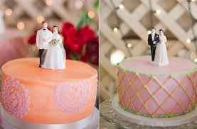Vintage Wedding Style Multiple Cakes Toppers 2