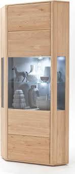 lomado eck vitrine tijuana 05 wohnzimmer eckschrank aus massiver eiche bianco mit beleuchtung b h t 69 206 69cm
