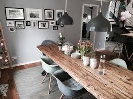 einrichtungsideen küche esszimmer mit massivholztisch der