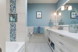 Blue Mosaic Bathroom Mirror by Bathroom Modern Light Blue Bathroom Ideas With Shaker Panel