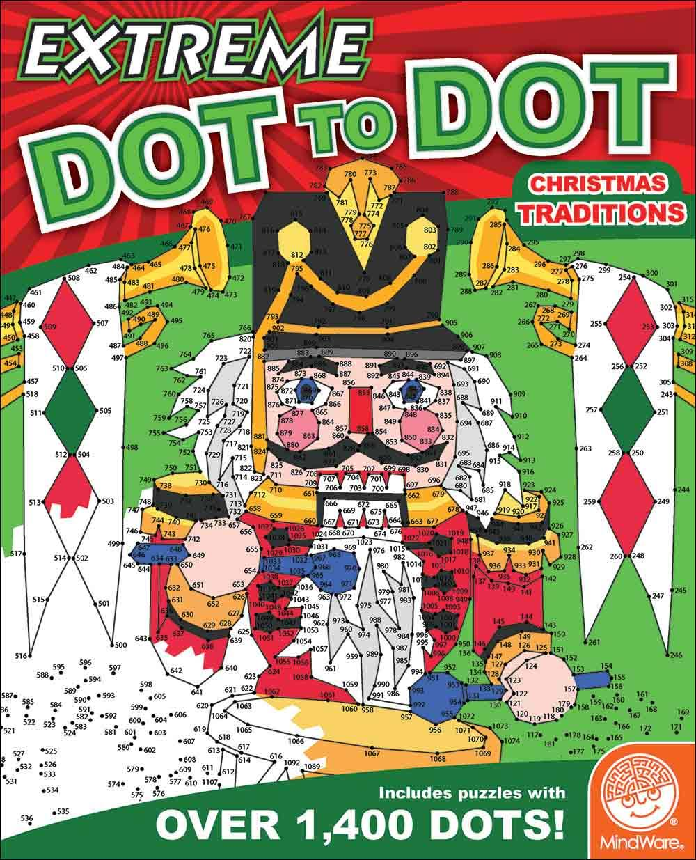 Mindware Extreme Dot to Dot: Christmas Traditions Activity Book