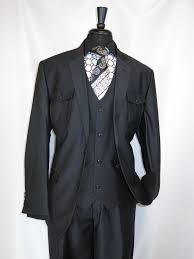 e j samuel m2686 black safari men u0027s suit very sophisticated look