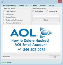 how to delete hacked aol email account 1 844 502 0074