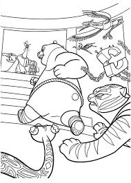 Dragon Warrior And The Furious Five Run After Lord Shen In Kung Fu Panda Coloring Page