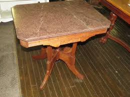 antique marble top parlor table l candle stand victorian
