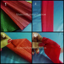 Step By Tutorial For Making Crepe Paper Rose Flower