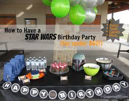 Star Wars Room Decor Walmart by How To Have A Star Wars Birthday Party For Under 60 Couponing 101