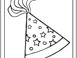 Surprising Party Hat Coloring Page Birthday Pages coloring page