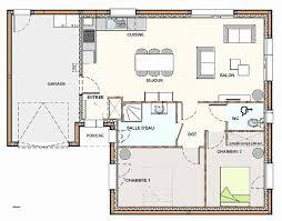 plan maison plain pied 2 chambres chambre best of plan de maison plain pied 3 chambres avec garage