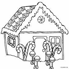 Beautiful Gingerbread House Coloring Pages 24 With Additional Site Free Printable