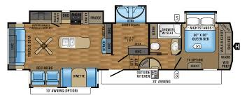 5th Wheel Campers With Bunk Beds by 2017 Eagle Fifth Wheel Floorplans U0026 Prices Jayco Inc