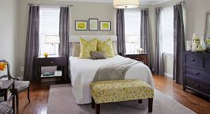 View In Gallery Stylish Bench At The Foot Of Bed Yellow Design Tamsin Group