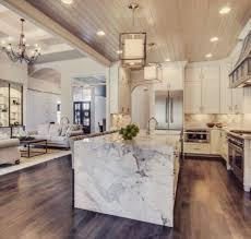 reve de cuisine un îlot central en marbre c est un rêve de luxe qui fera de votre