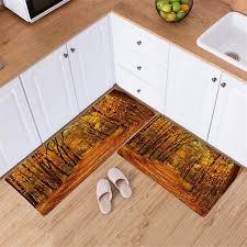 ommda küchen teppiche läufer muster der pflanzen 3d antiskid