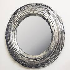 casa padrino designer wandspiegel rund silber durchmesser 85 cm wohnzimmer spiegel