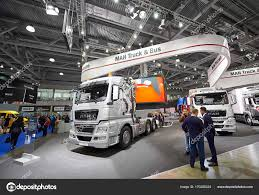 MOSCOW, SEP, 5, 2017: Silver MAN Truck On Commercial Transport ...