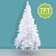 7Ft Artificial PVC Christmas Tree W Stand Holiday Season Indoor Outdoor White