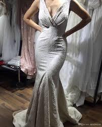 100 Where Is Dhgate Located V Neck Mermaid Sleeves Sweep Train Backless Zipper Elegant Sexy