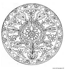 Mandala Flowers 3 Coloring Pages Printable And Book To Print For Free Find More Online Kids Adults Of