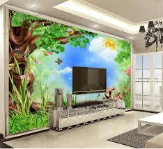 großhandel 3d wallpaper wohnzimmer 3d comic wald deer tiere wallpaper hd landschaftswand papier superior inneneinrichtung tapeten yunlin188 7 14